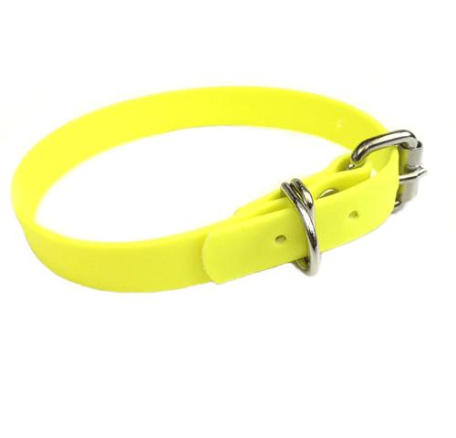 Biothane Halsband Neon Geel 2x55 cm